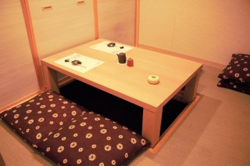 Reserve a cosy tatami room for privacy