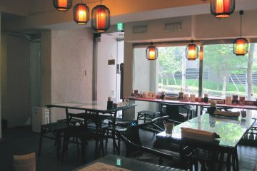 Breaq has standard seating in addition to a private party booth in a corner of the restaurant.