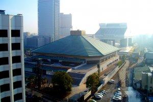 The iconic Ryogoku Kokugikan in Tokyo