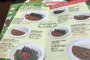 Inside the menu book