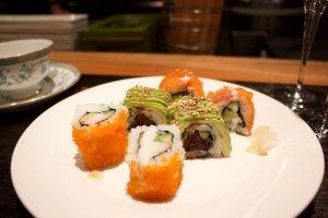 California-style sushi