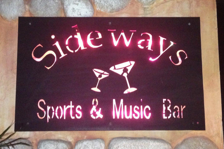 Sideways is a bar with a full restaurant menu