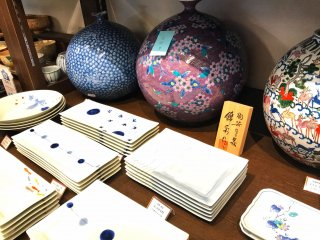 Beautiful vases and plates
