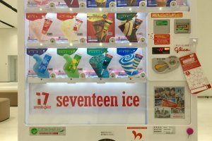 Get your mint chocolate ice cream fix from the ever popular 17 Ice vending machine