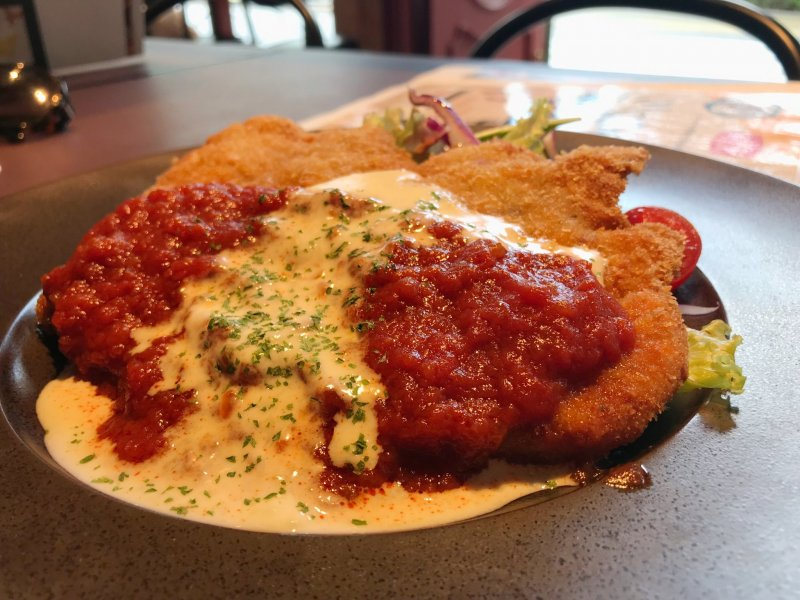 It wouldn't be a German restaurant without schnitzel
