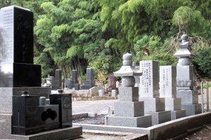 Modern gravestones