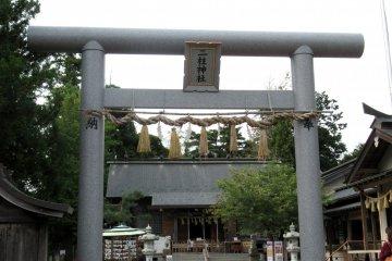 The torii gate of Futahashira shrine