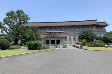 The view of the Honkan building as soon as you walk through the main gate.