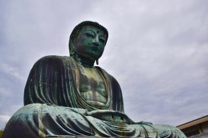 The Daibutsu survived the tsunami that swept away the temple in which the Buddha once resided