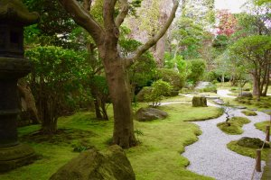 카마쿠라 사원 속 숨어있는 정원들 중 하나