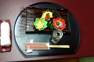 One of 11 dishes at Kaiseki in Kawagoe