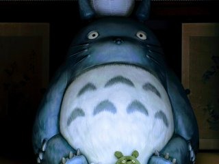 The Kurosuke house is home to a life size Totoro