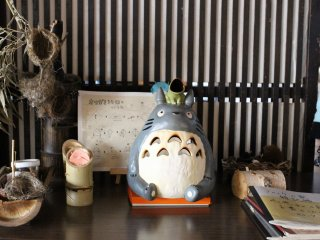 You will also find lots of Totoro paraphernalia