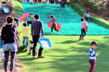 Among its attractions is the highly popular grass slides. There are two. One for smaller children and one for all ages. The sleds you use to slide are free to borrow and there is no cover charge to play.