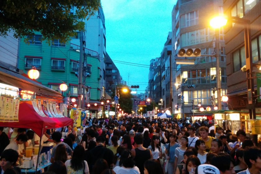 The streets are filled during festival time