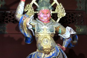 Finely carved and painted sculptures in Nikko