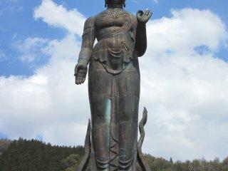 A bronze statue 25 metres tall