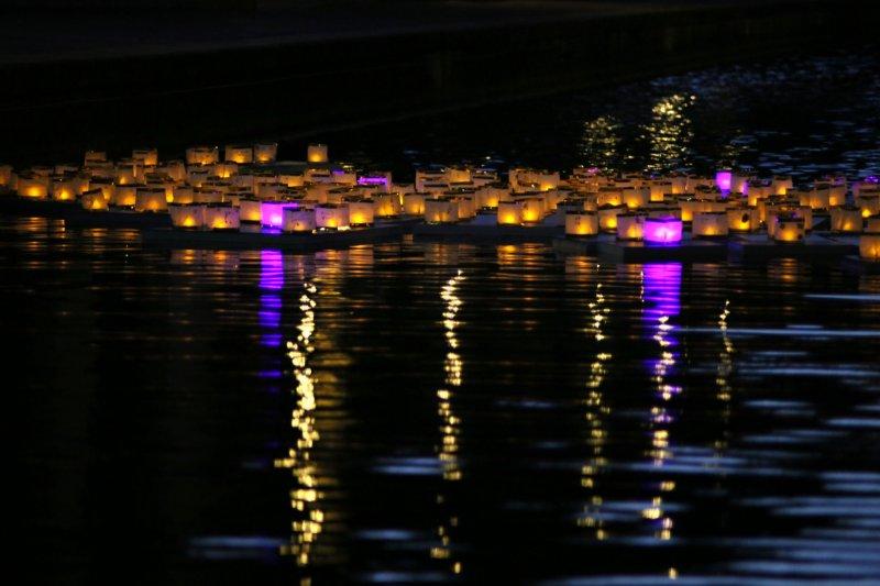 An example of a Toro Nagashi ceremony