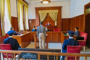 Restored Courtroom is sixt oldest in Japan