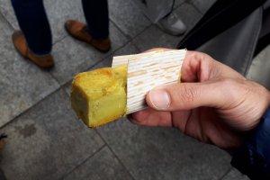 Butter-fried sweet potato paste