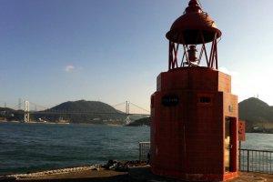 Retro lighthouse on the Kanmon Straight