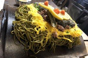 Kawara soba at resutaurant Takase