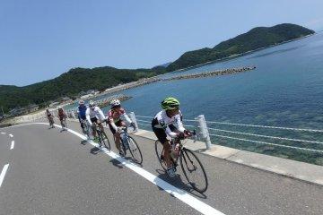 Cycling in Suo Oshima island