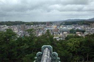 Вид с верхнего этажа замка