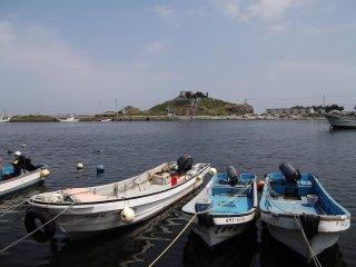 Alors que vous approchez de l'île, le bruit des mouettes devient de plus en plus fort