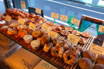 Pain au Sourire's spread of baked goods