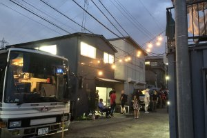 Early evening at the Dream Drive Depot launch party