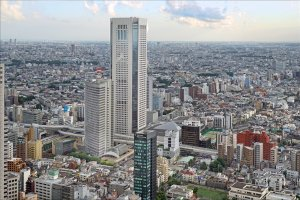 The towering building that is Tokyo Opera City in Shinjuku