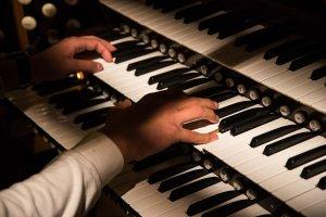Organ being played