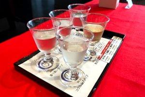 Saké tasting set
