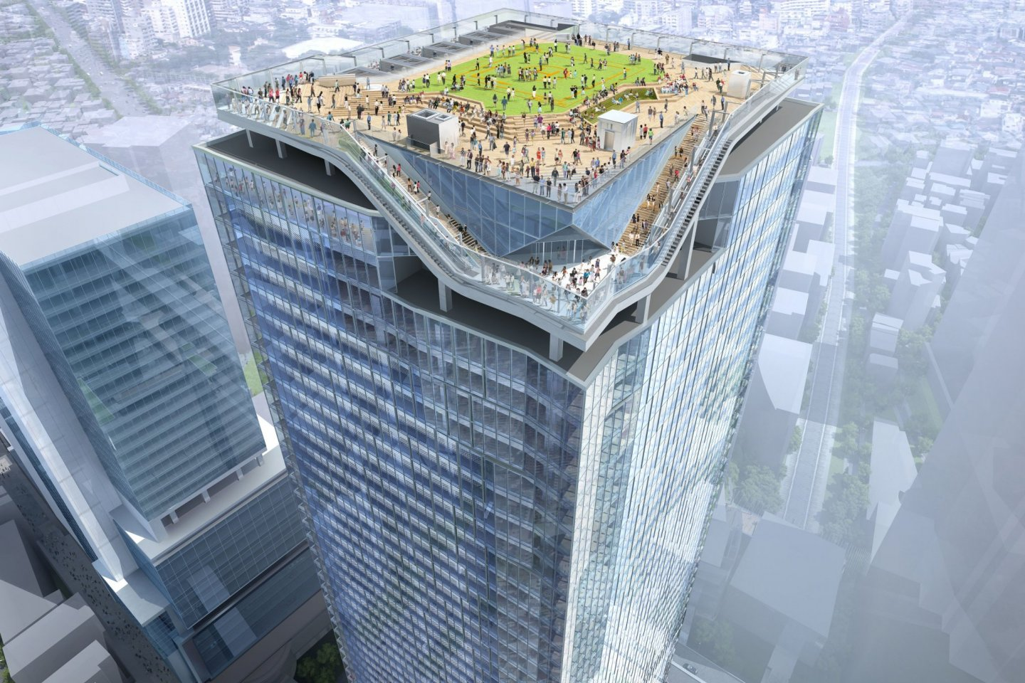 Above the clouds - the Shibuya Sky observation deck spanning three floors opens in Nov 2019