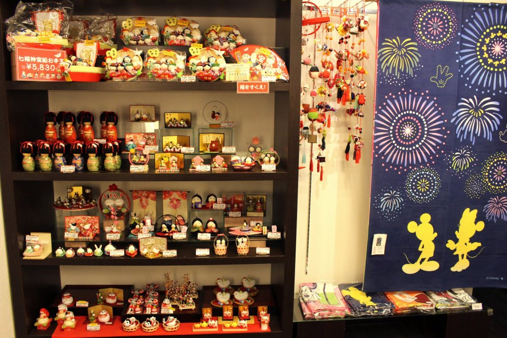 Thousands of cute souvenirs can be found in the shops of Enoshima
