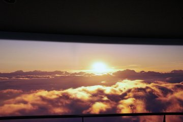 Lucky ones can watch sunrise on the top of Mt. Fuji!
