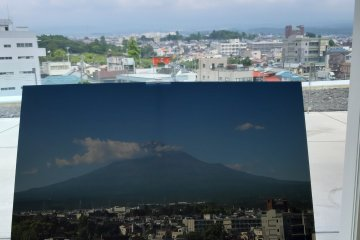 Mt. Fuji was hidden behind the clouds on the day of my visit