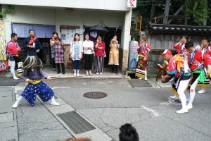 The shishimai dance being performed