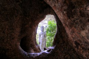 A 'Kannon' greets you on the other side