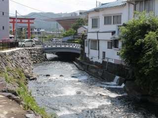 Streamy river of Fujinomiya