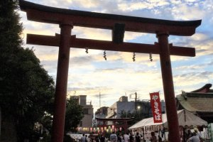 Anamori Inari Shrine sunset