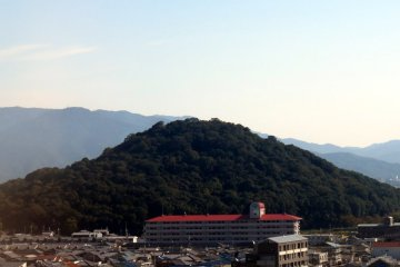 View from the open air bath of Candeo Hotels Nara Kashihara.