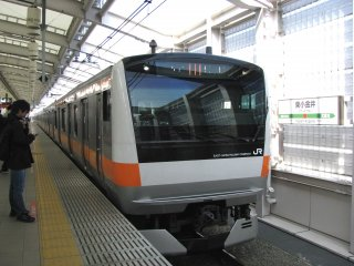 A rapid Chuo Line train in Tokyo