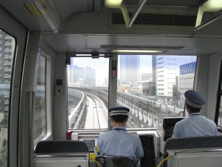 The Yurikamome Monorail in Tokyo
