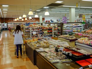 There is a large range of freshly baked foods and snacks