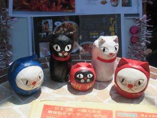A variety of Maneki Neko