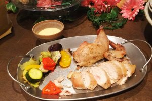 Roast chicken, the house specialty