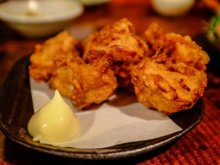 As usual, the chicken karage is to die for at Marukyu-shoten