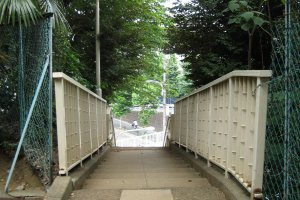Steps leading to and from Nishi-Nippori Park